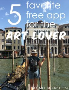 My art bucket list 5 favorite free app for the art lover