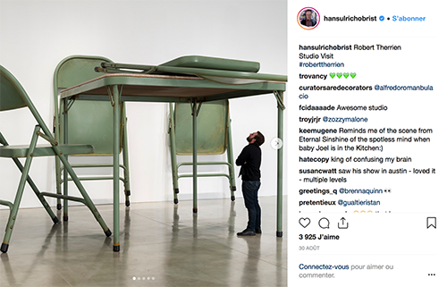 Instagram Hans Ulrich Obrist my art bucket list