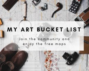 customed google maps my art bucket list