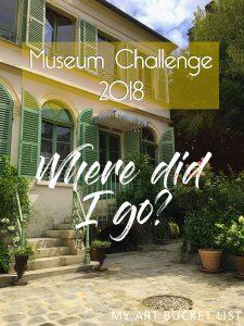 My art bucket list Museum Challenge 2018