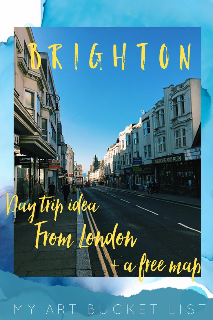 Brighton: Day trip idea from London + a free map! My art bucket list
