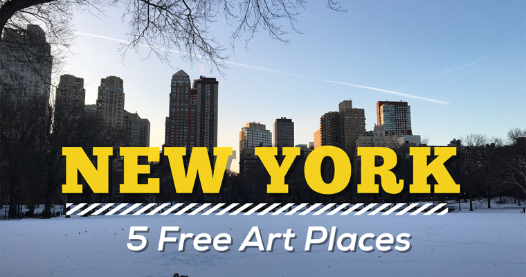 5 free art places in New York + a map